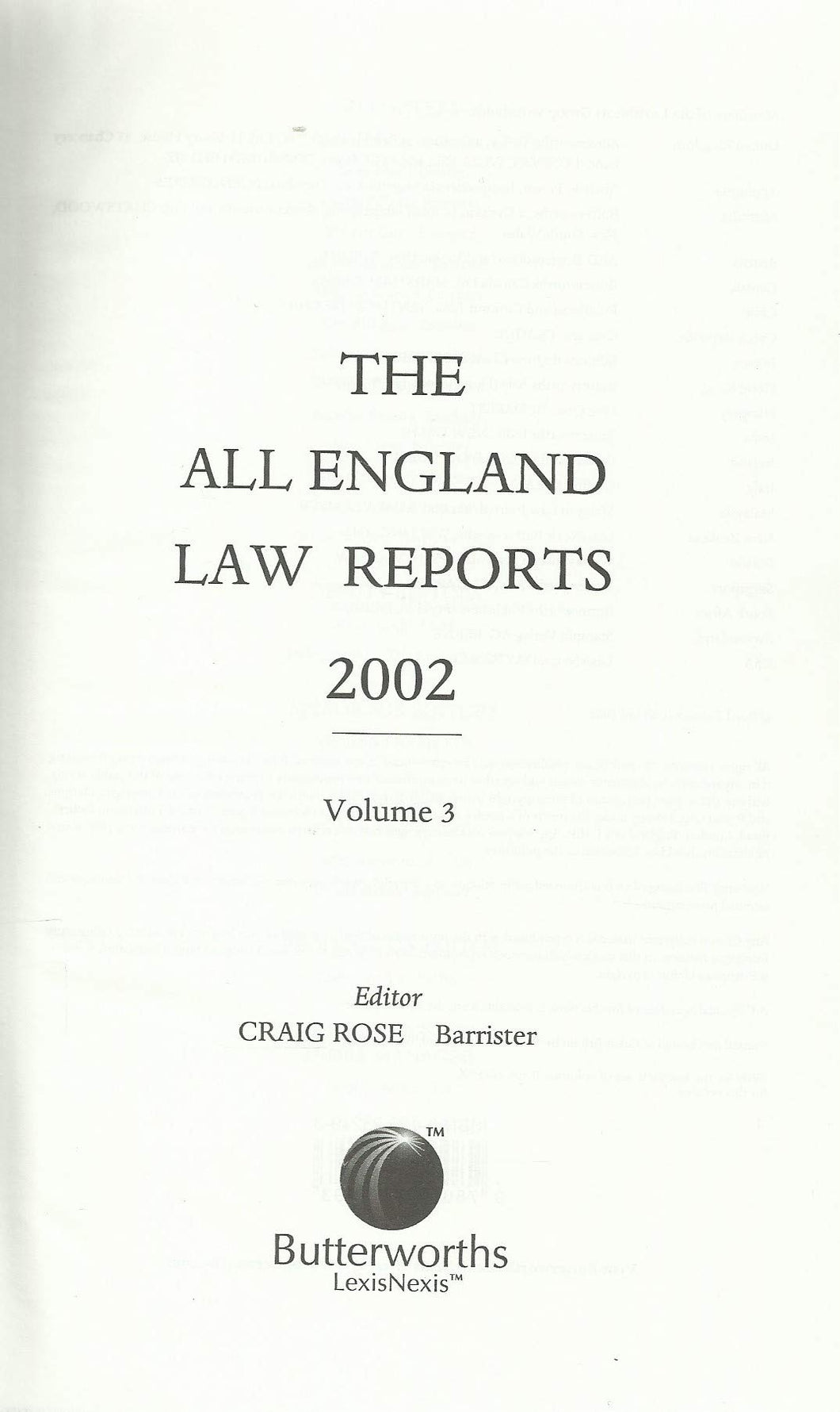 The All England Law Reports 2002, Volume 3