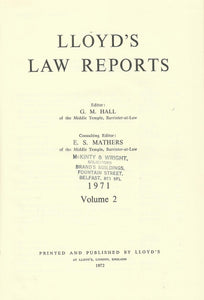 Lloyd's Law Reports - 1971, Volume 2