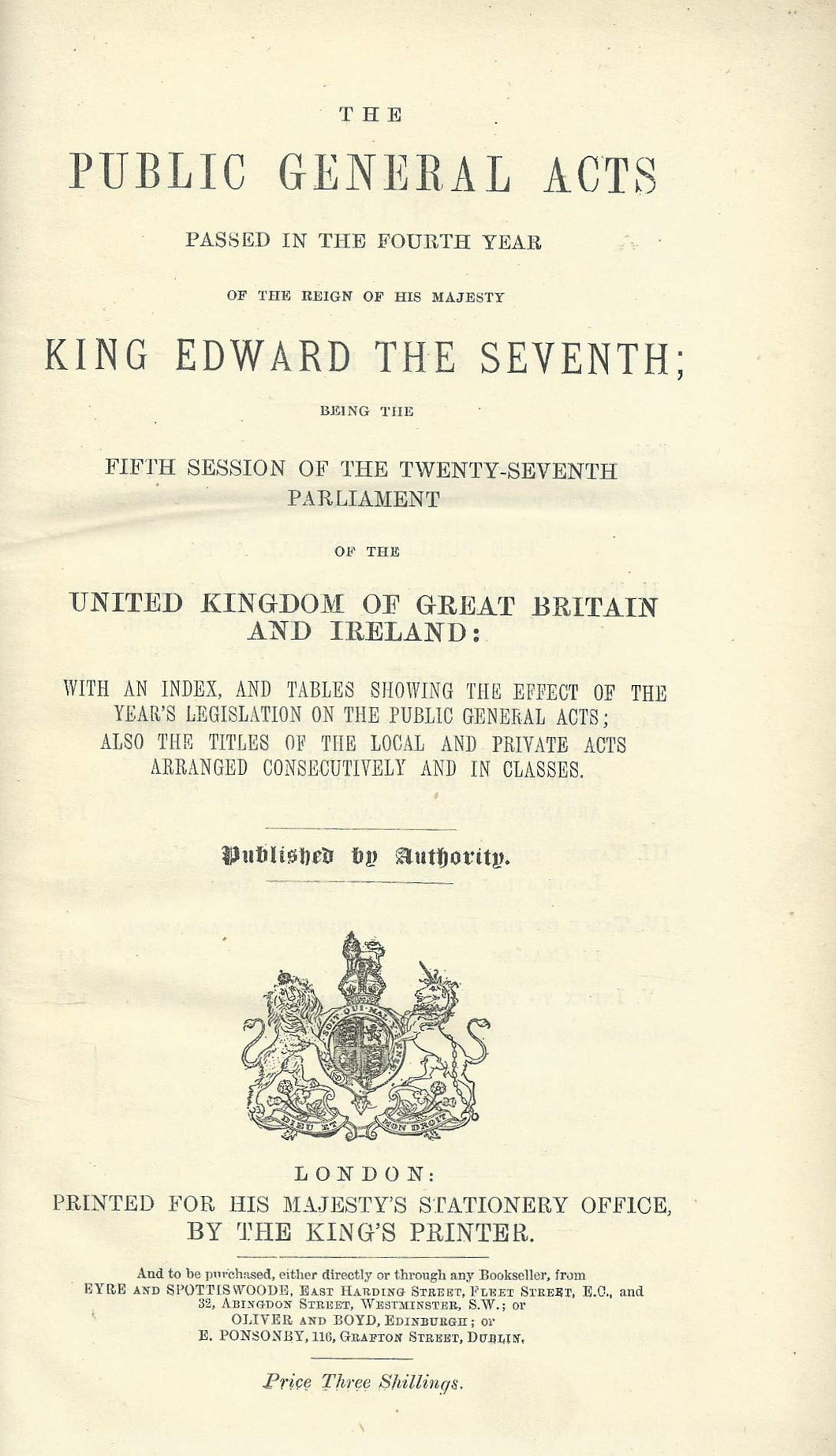 PUBLIC GENERAL ACTS 1904.