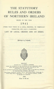 Northern Ireland Statutory Rules and Orders, 1941 - The Statutory Rules and Orders of Northern Ireland