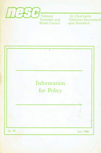 Information for Policy - No 78, July 1985