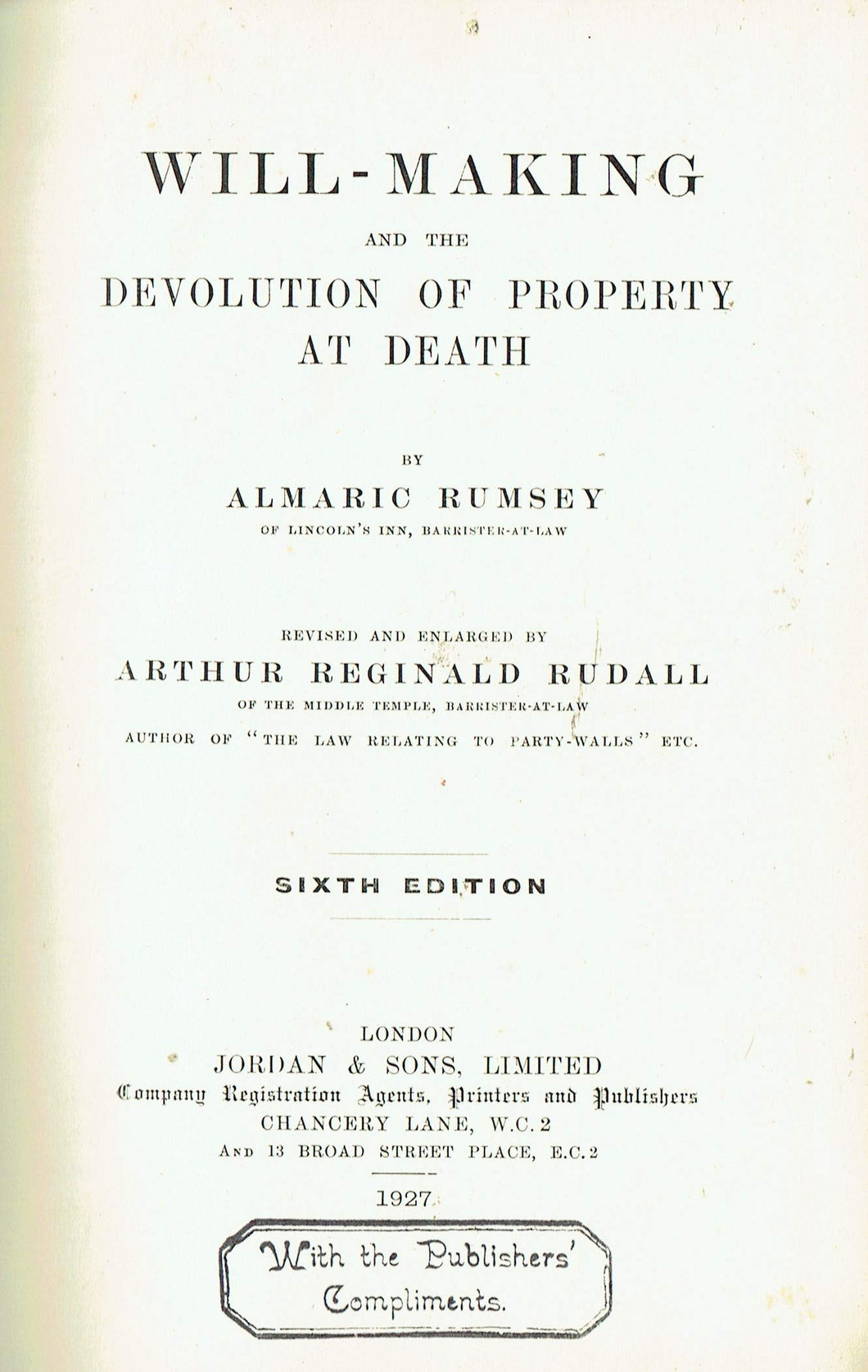 Will-Making and the Devolution of Property at Death - Sixth Edition