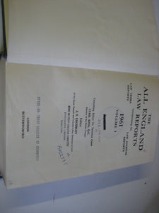 The All England Law Reports: 1961 Vol 1