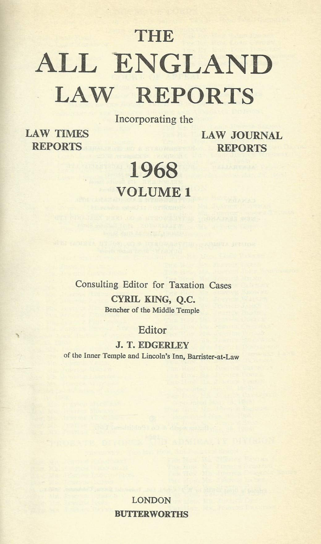 All england law reports: 1968 Vol 1