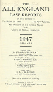 The All England Law Reports 1947 Volume 2