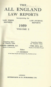 The All England Law Reports 1959 Volume 2