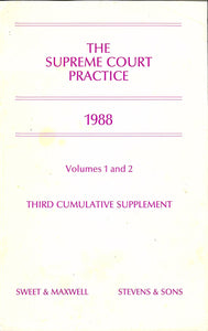 The Supreme Court Practice 1988: Volumes 1 and 2 - Third Cumulative Supplement