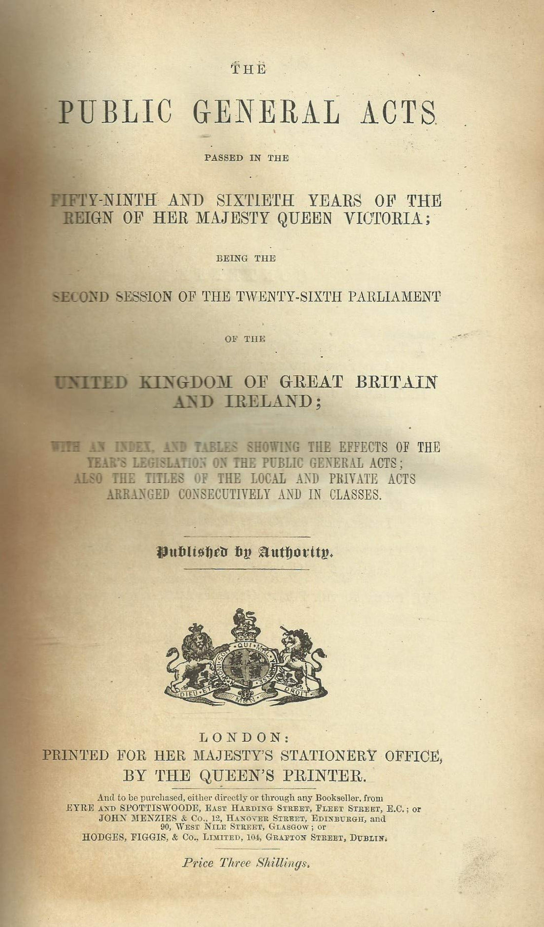The Public General Acts 1896 - 59 and 60 Vict