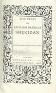 The Plays Of Richard Brinsley Sheridan (Everyman Library)
