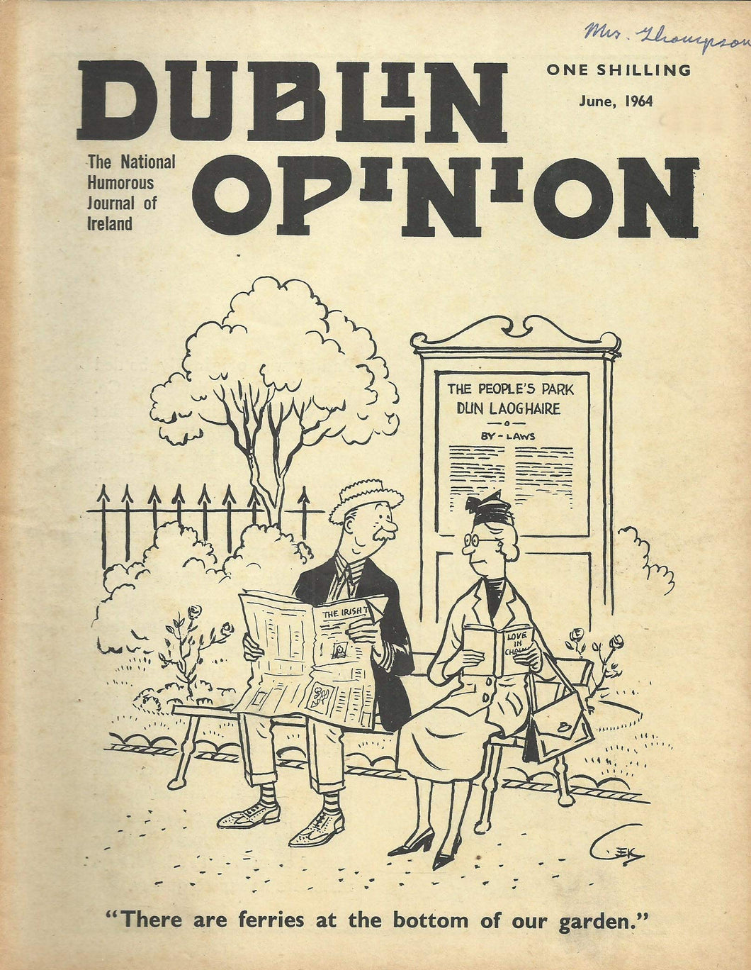 Dublin Opinion - June, 1964 - The National Humorous Journal of Ireland
