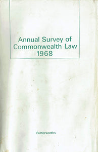 Annual Survey of Commonwealth Law 1968