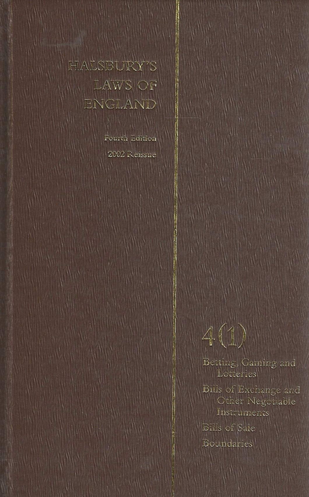 Halsbury's Laws of England: Volume 4 (1)