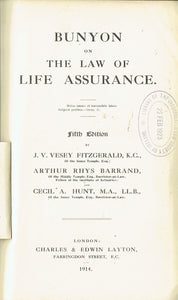 Bunyon on the Law of Life Assurance - Fifth Edition
