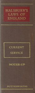 Halsbury's Laws of England - Current Service Binder 2 Noter-Up