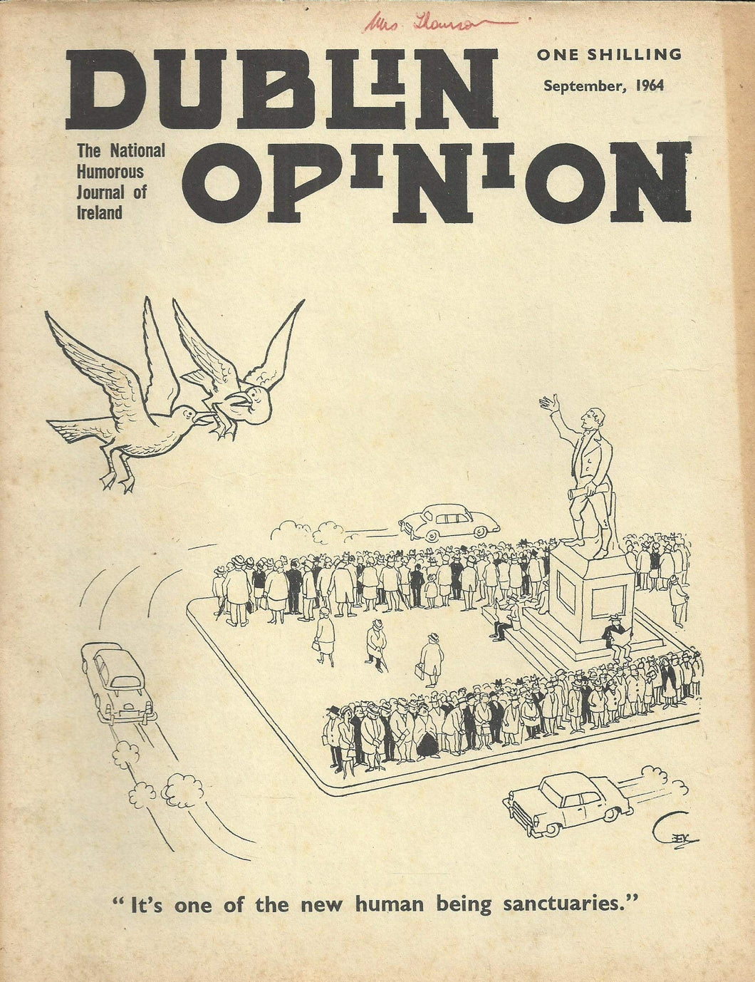 Dublin Opinion - September, 1964 - The National Humorous Journal of Ireland