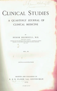 Clinical Studies: A Quarterly Journal of Clinical Medicine, Vol. III, 1905
