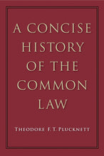 Load image into Gallery viewer, Concise History of the Common Law