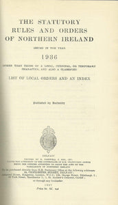 Northern Ireland Statutory Rules and Orders 1936