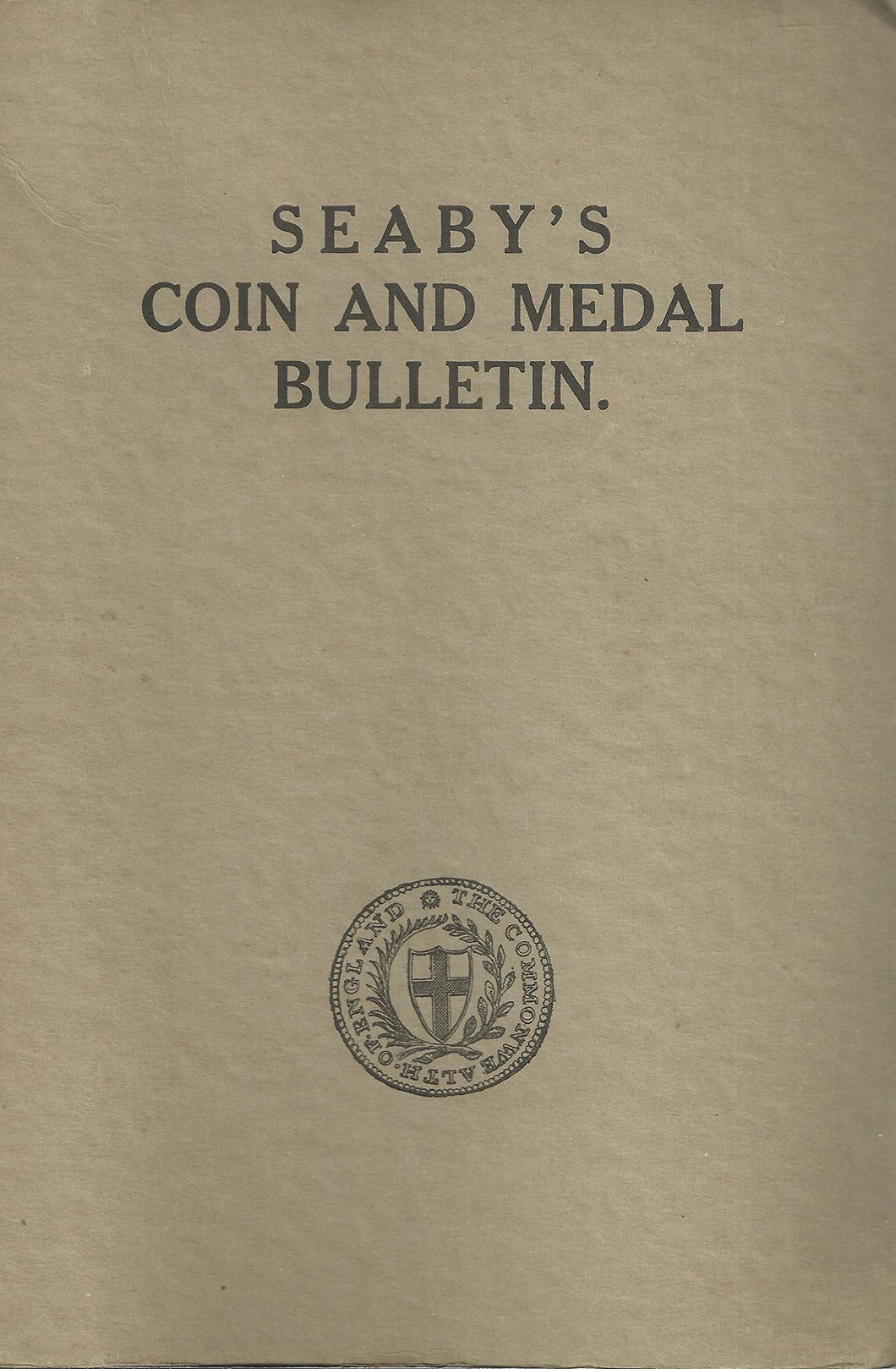 Seaby's Coin and Medal Buletin, 1967: Full Year (12 Bulletins) in Official Seaby's Binder