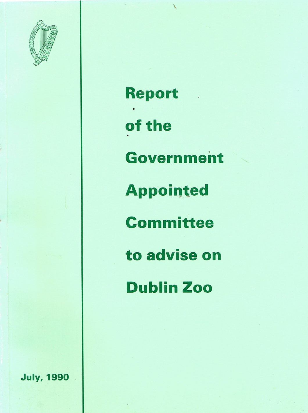 Report of the Government Appointed Committee to Advise on Dublin Zoo