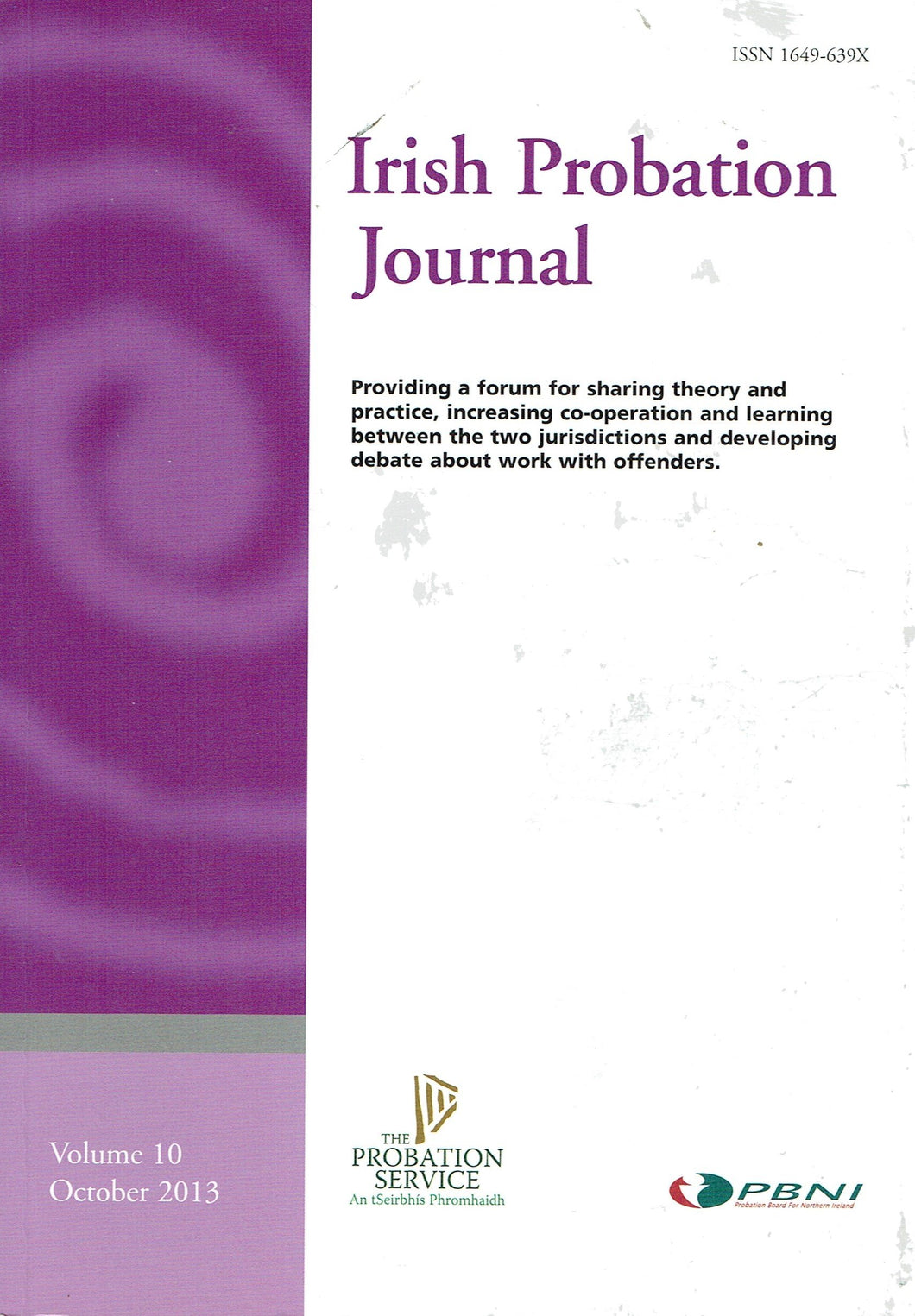 Irish Probation Journal - Volume 10, October 2013
