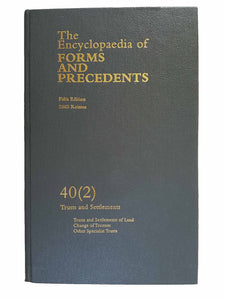 Encyclopaedia of Forms and Precedents 40(2)