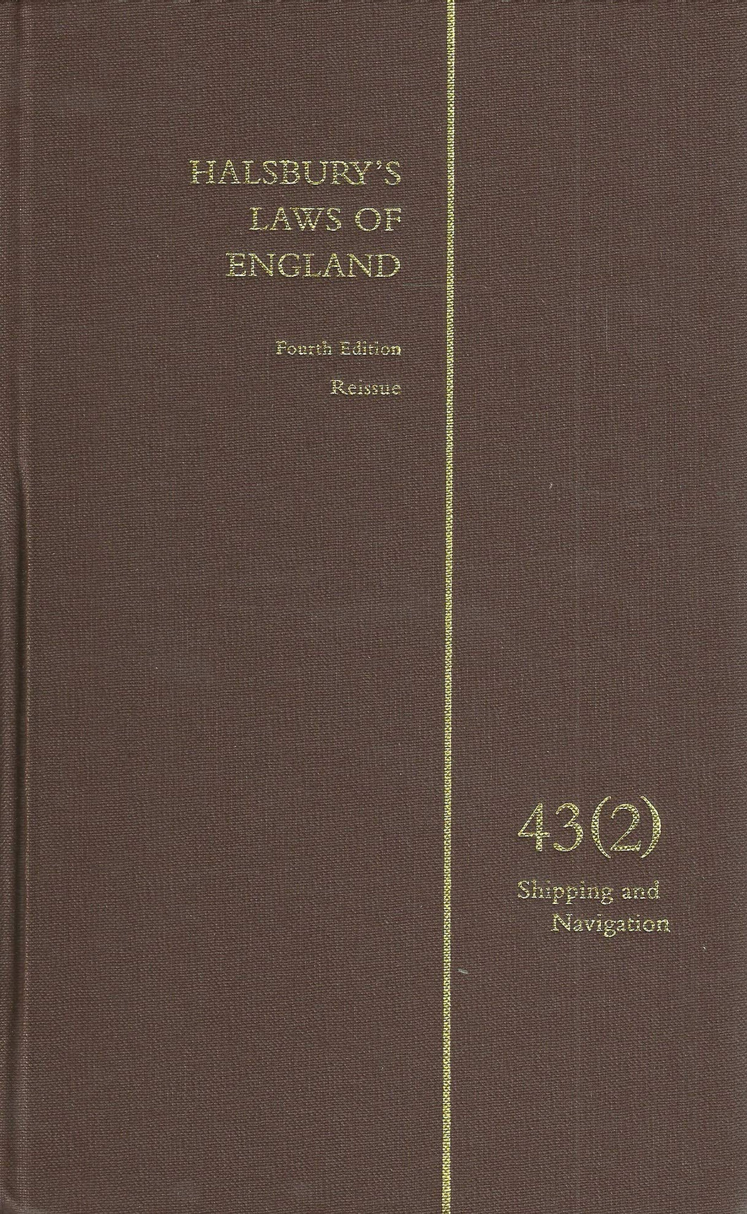 Halsbury's Laws of England Vol 43(2)