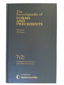 Encylopaedia of Forms and Precedents: v. 7