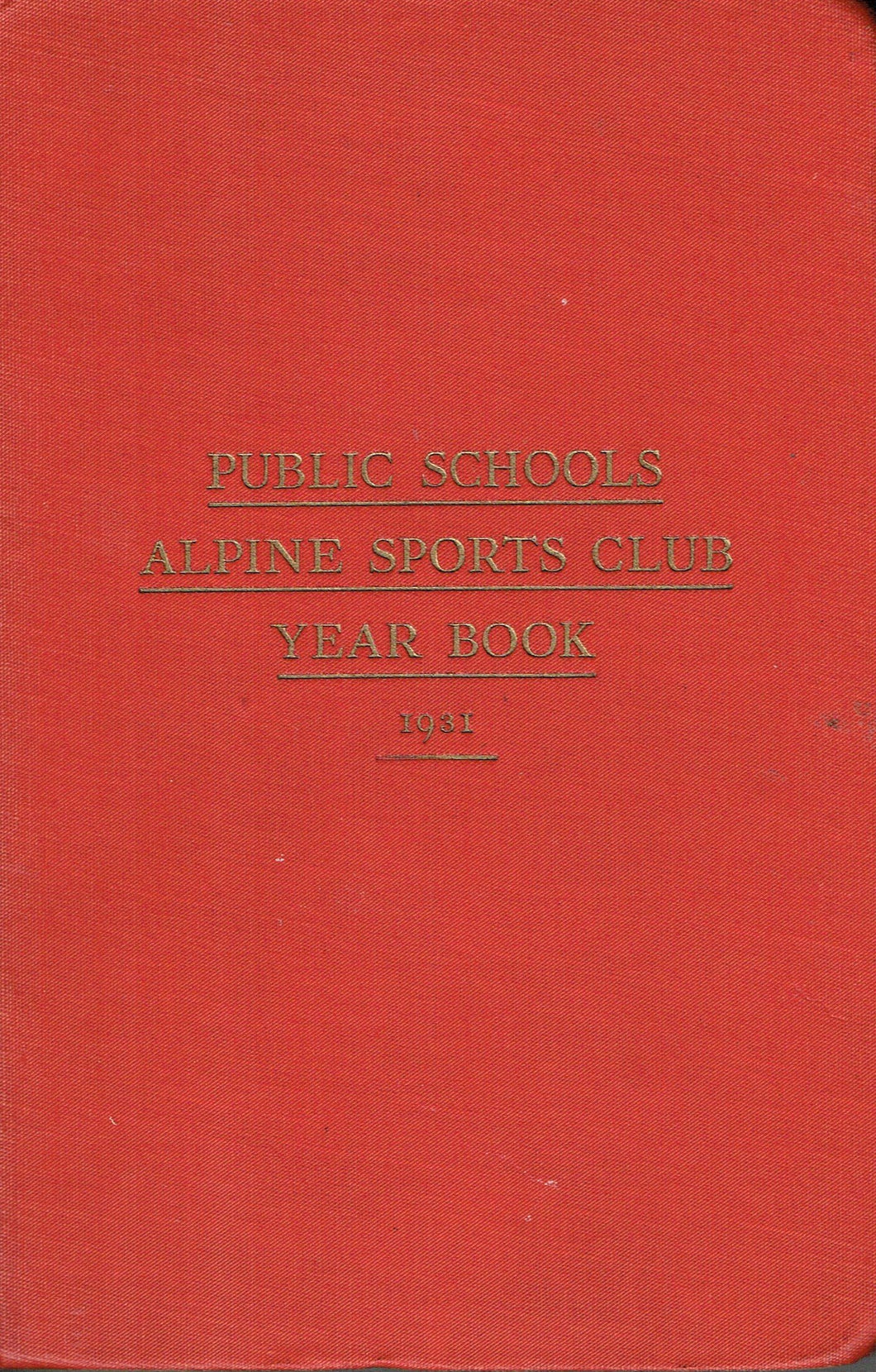 Public Schools Alpine Sports Club Year Book 1931