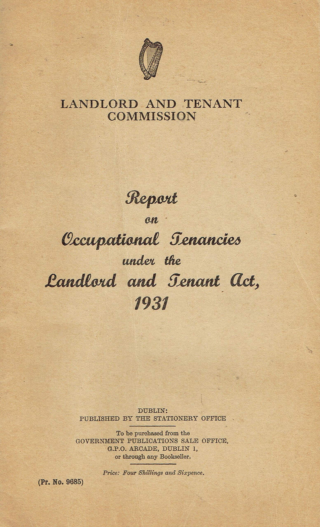 Landlord and Tenant Commission: Report on Occupational Tenancies under the Landlord and Tenant Act, 1931