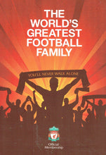 Load image into Gallery viewer, The World's Greatest Football Family: Liverpool Football Club (LFC) Official Membership Book 2018/19