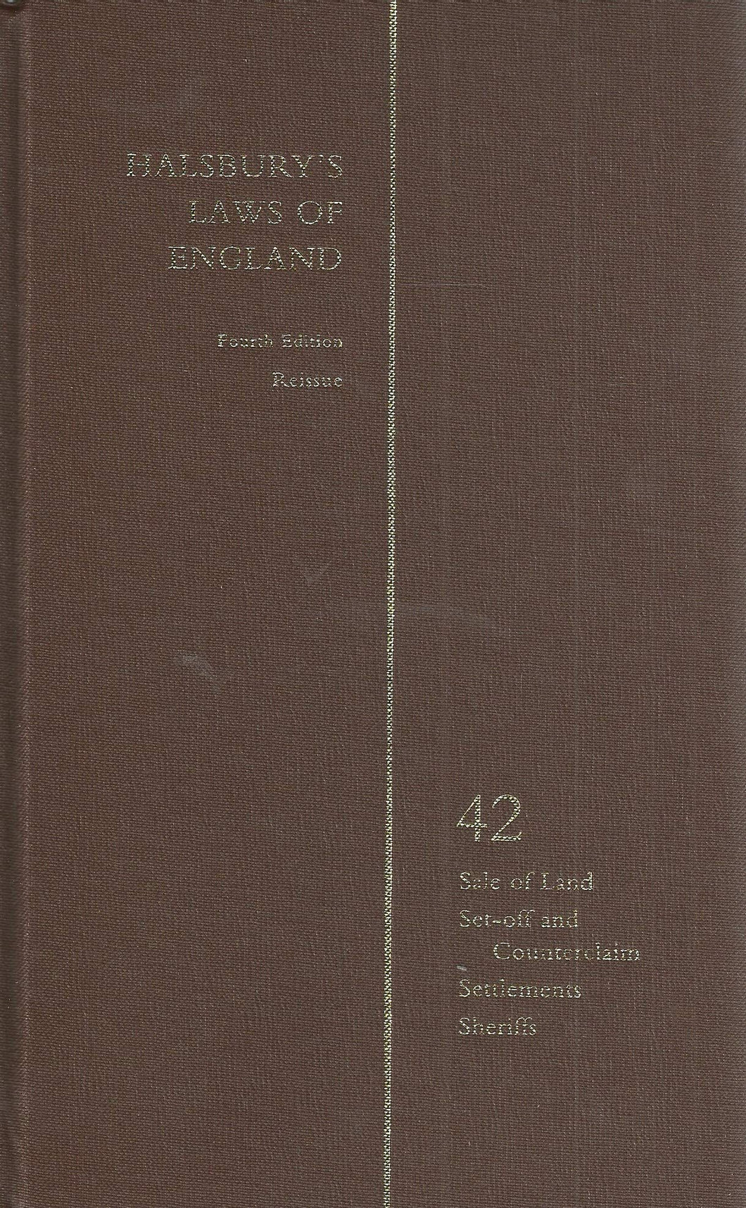 Halsbury's Laws of England Vol 42