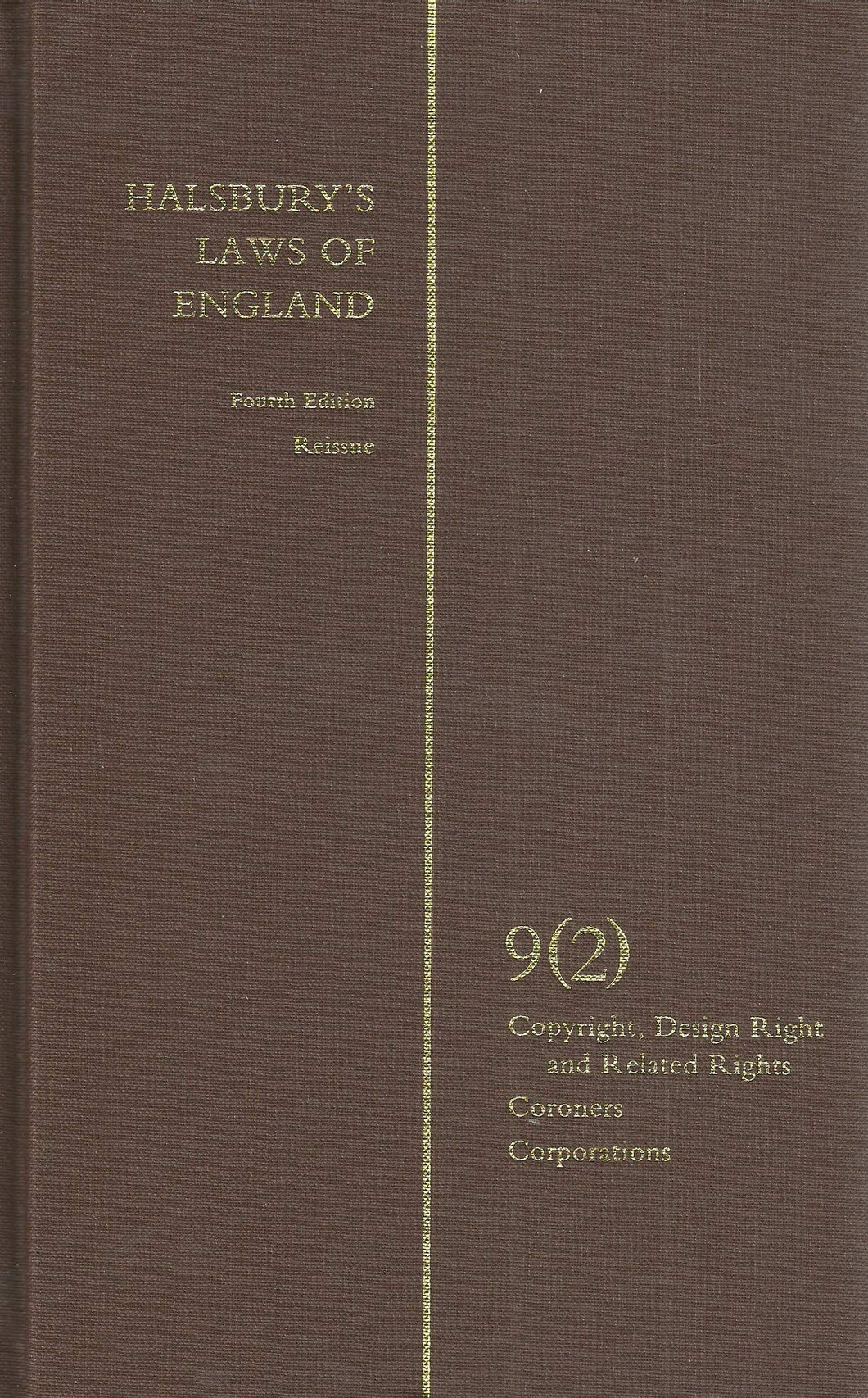 Halsbury's Laws of England 4th Edition Volume 9 (2)