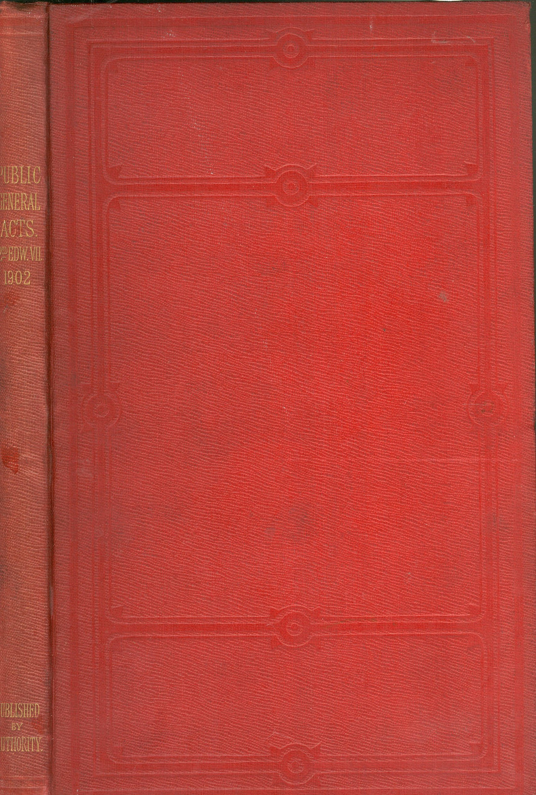 Public General Acts 2nd EDW.VII 1902 by Various