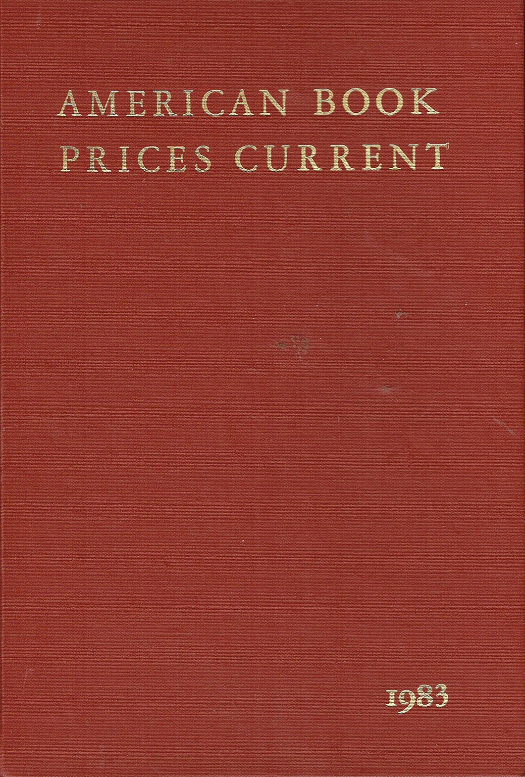 American Book Prices Current 1983