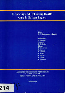 Financing and Delivering Health Care in Balkan Region