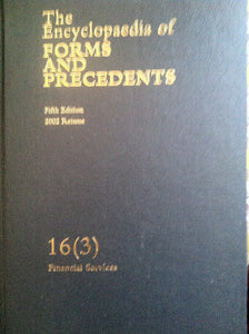 Encyclopedia of Forms and Precedents 16(3)
