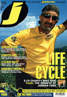 J Magazine: The Official Jordan Grand Prix Magazine - Volume 3, Issue 4 - Winter 2002: Life Cycle - EJ's Charity Bike Ride
