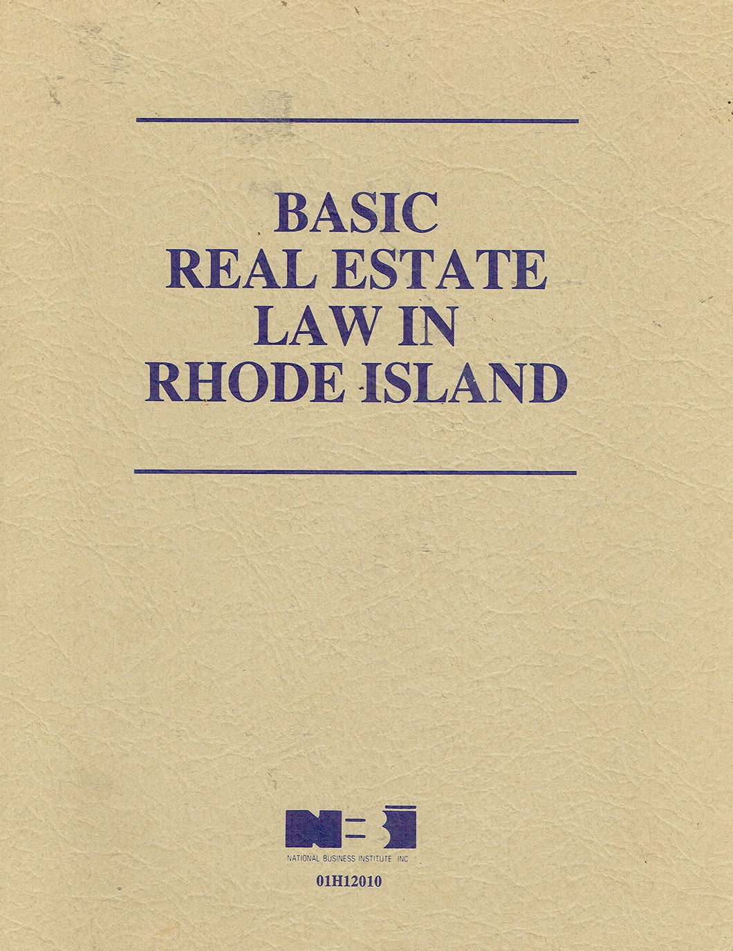 Basic Real Estate Law in Rhode Island