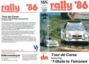 Rally '86 - Tour de Corse Rally 1986. Featuring 'Tribute to Toivonen' [VHS]