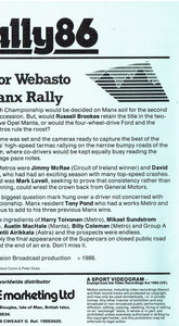 Rally 86: 1986 Tudor Webasto Manx International Rally [VHS]