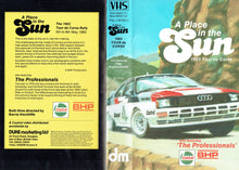 Load image into Gallery viewer, A Place in the Sun: 1983 Tour de Corse - also featuring 'The Professionals' - World Rally Championship/F1 [VHS