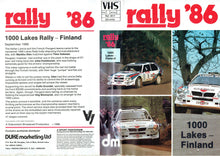 Load image into Gallery viewer, Rally '86: 1000 Lakes Rally 1986 - World Rally Championship [VHS]