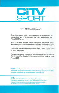 1984 1000 Lakes Rally - World Rally Championship - CiTV Sport 2 [VHS]