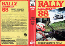 Load image into Gallery viewer, Rally Highlights 88: Tudor Webasto Manx Rally 1998 - European Rally Championship, British Rally Championship [VHS]