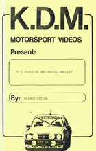 Load image into Gallery viewer, 1973 Scottish and Argyll Rallies - Mirror Vision 23/KDM Motorsport Videos [VHS]