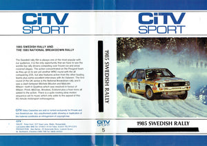 1985 Swedish Rally - CiTV SPort 5 - World Rally CHampionship (WRC) [VHS]