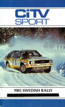 Load image into Gallery viewer, 1985 Swedish Rally - CiTV SPort 5 - World Rally CHampionship (WRC) [VHS]