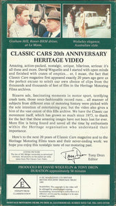 The Classic Cars Magazine Video: Nearly One Hour of Rare Archive Clips Celebrating 20 Years of Classic Cars With... Heritage Motoring Films [VHS]
