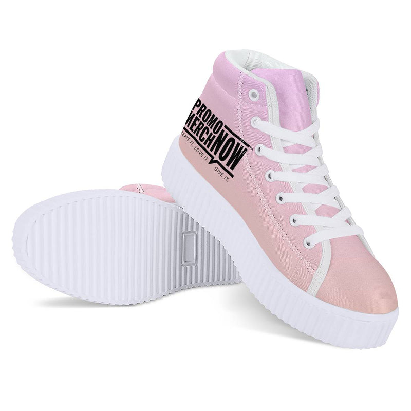 All Over Print Sublimated - Women's High Top Platform Shoes